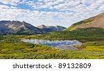 Beautiful lake in the San Juan Mountains in Colorado. - stock photo