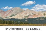 Colorful peaks in the San Juan Mountains along the Colorado Trail. - stock photo