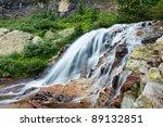 Beautiful cascading waterfall in Colorado, USA. - stock photo