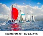 j24 sailing regatta in greece | Shutterstock . vector #89133595