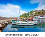 Wooden Fishing Boats In The...