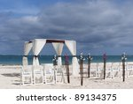 tropical settings for a wedding ... | Shutterstock . vector #89134375