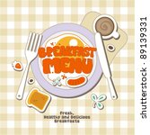 breakfast menu card design... | Shutterstock .eps vector #89139331