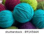 Balls Of Colored Yarn. Multi...
