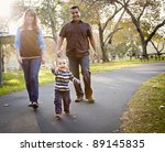 happy young mixed race ethnic... | Shutterstock . vector #89145835