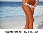 woman in bikini on sea... | Shutterstock . vector #89146312