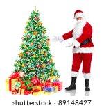 happy traditional santa claus... | Shutterstock . vector #89148427