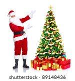 happy traditional santa claus... | Shutterstock . vector #89148436