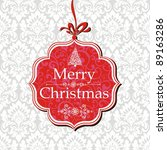 merry christmas card. greeting... | Shutterstock . vector #89163286