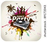 beach dance party | Shutterstock .eps vector #89172043