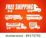 delivery vector stickers | Shutterstock .eps vector #89173750
