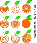 icon set of various fruit  ... | Shutterstock . vector #89177413