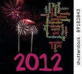 happy new year 2012 info text... | Shutterstock . vector #89182843