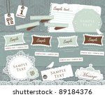 vintage decorative design... | Shutterstock .eps vector #89184376