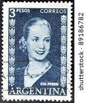 argentina   circa 1948   a...   Shutterstock . vector #89186782