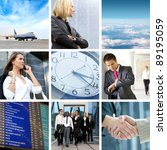 collage abut business traveling | Shutterstock . vector #89195059
