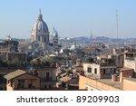 cityscape of rome  italy.... | Shutterstock . vector #89209903