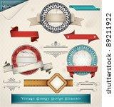 vintage grungy design elements. ... | Shutterstock .eps vector #89211922