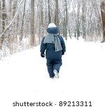 Little Boy Walking Away In A...