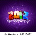 happy new 2012 year greeting... | Shutterstock .eps vector #89219092