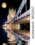 tower bridge  london at night... | Shutterstock . vector #8922517