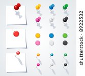 vector push pin collection. | Shutterstock .eps vector #8922532