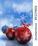 Abstract 3d illustration of background with christmas balls - stock photo