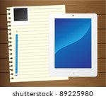 fictitious touch tablet pc with ... | Shutterstock .eps vector #89225980