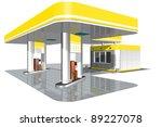 gasoline station | Shutterstock . vector #89227078