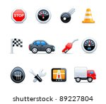 vector car icons | Shutterstock .eps vector #89227804