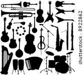 music instrument vector | Shutterstock .eps vector #8922862