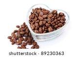 Chocolate with raisins in vase isolated on white background. - stock photo