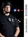 a police officer wearing a riot ...   Shutterstock . vector #89233888