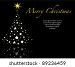 elegant black wish you a merry... | Shutterstock .eps vector #89236459