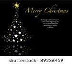 elegant black wish you a merry... | Shutterstock .eps vector #89236459