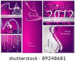merry christmas and happy new... | Shutterstock .eps vector #89248681