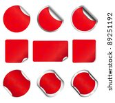 set vector red christmas and... | Shutterstock .eps vector #89251192