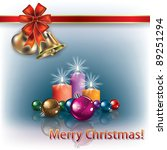 christmas greeting with... | Shutterstock . vector #89251294
