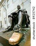 John Harvard Statue. Tourists...