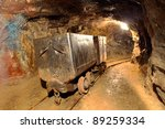 underground train in mine ... | Shutterstock . vector #89259334