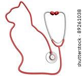 Cat Shaped Stethoscope. Pet...
