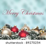 Christmas ornaments background - stock photo