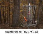 Basket For Disc Golf In A...