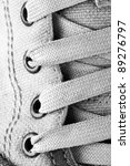 Close Up Of Running Shoe Laces...