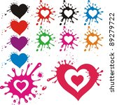 hearts is blot isolated on... | Shutterstock . vector #89279722