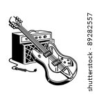 electric guitar and amplifier   ... | Shutterstock .eps vector #89282557
