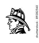 fireman icon   retro clipart...