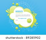 blue and green web navigation... | Shutterstock .eps vector #89285902