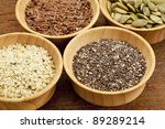 chia  hemp  flax and pumpkin  ...   Shutterstock . vector #89289214