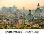 view of  rome from castel sant... | Shutterstock . vector #89294650